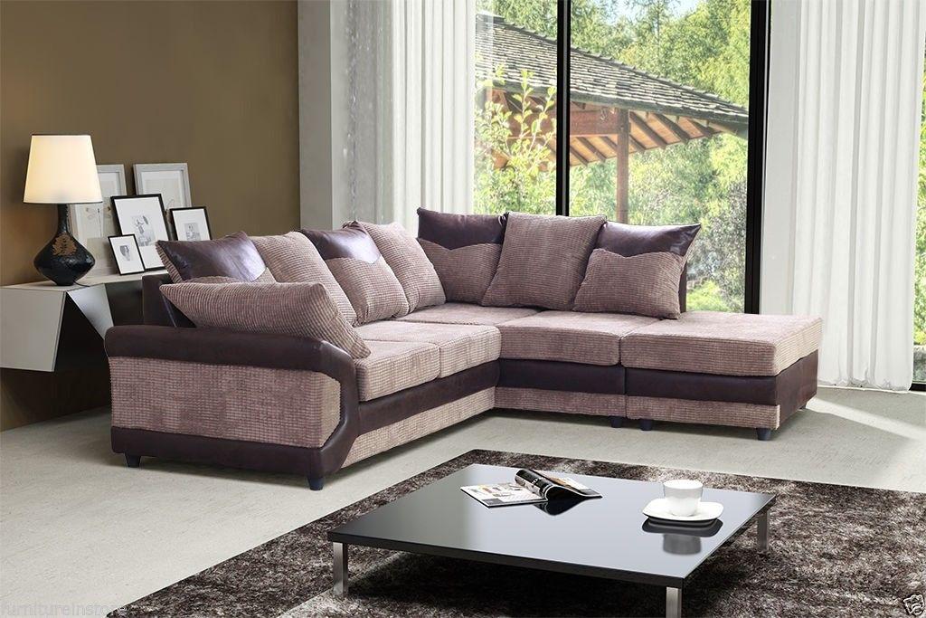 Dino Corner Sofa Beige Brown Mn Furniture Uk