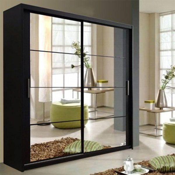 DELTA BLACK WARDROBE ( 150cm )