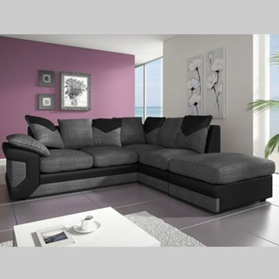 Dino Corner Sofa Black/Grey