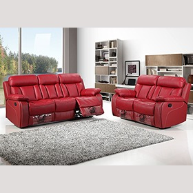 red Recliner Sofa