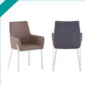 CROMA BROWN/GREY CHAIR