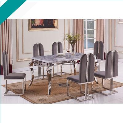 Sarah Grey Mn Furniture Uk, Sarah Extending Glass Dining Table With 6 Romeo Chairs