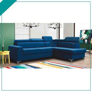 Gloss corner sofa