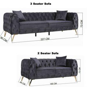 Homey Chesterfiled 3+2 sofa